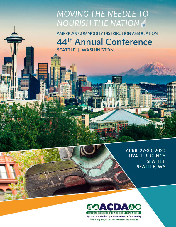 Cover design for ACDA 2020 conference in Seattle