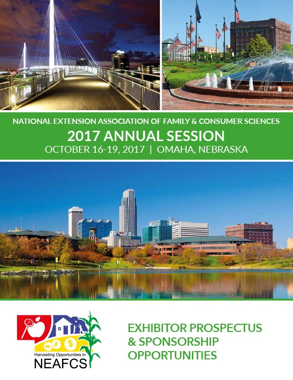 National Extension Association of Family & Consumer Sciences 2017 Annual Session brochure cover