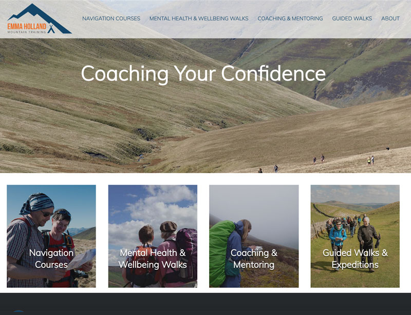 Website for Emma Holland Mountain Training